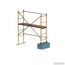 Помост строительный телескопический зеленый