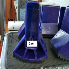 Ножка стабилизатора 82х20мм обливная (синяя)