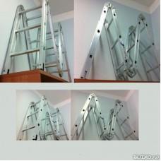 Алюминиевая лестница трансформер облегченный и ПРОФИ