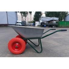 Тачка двухколесная 110 литров 300кг литое колесо