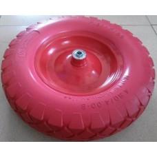 Колесо для тачки ЛИТОЕ 400мм с мет. диском ось 12мм