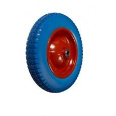 Колесо для тачки ЛИТОЕ 325мм с мет. диском ось 20мм