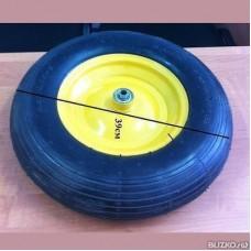 Колесо для тачки пневмо 400мм с мет. диском
