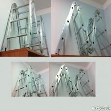 Лестница алюминиевая шарнирная