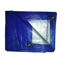 Тент тарпаулин, 120 гр и 180гр Цвет зеленый/серебро и синий/серебро